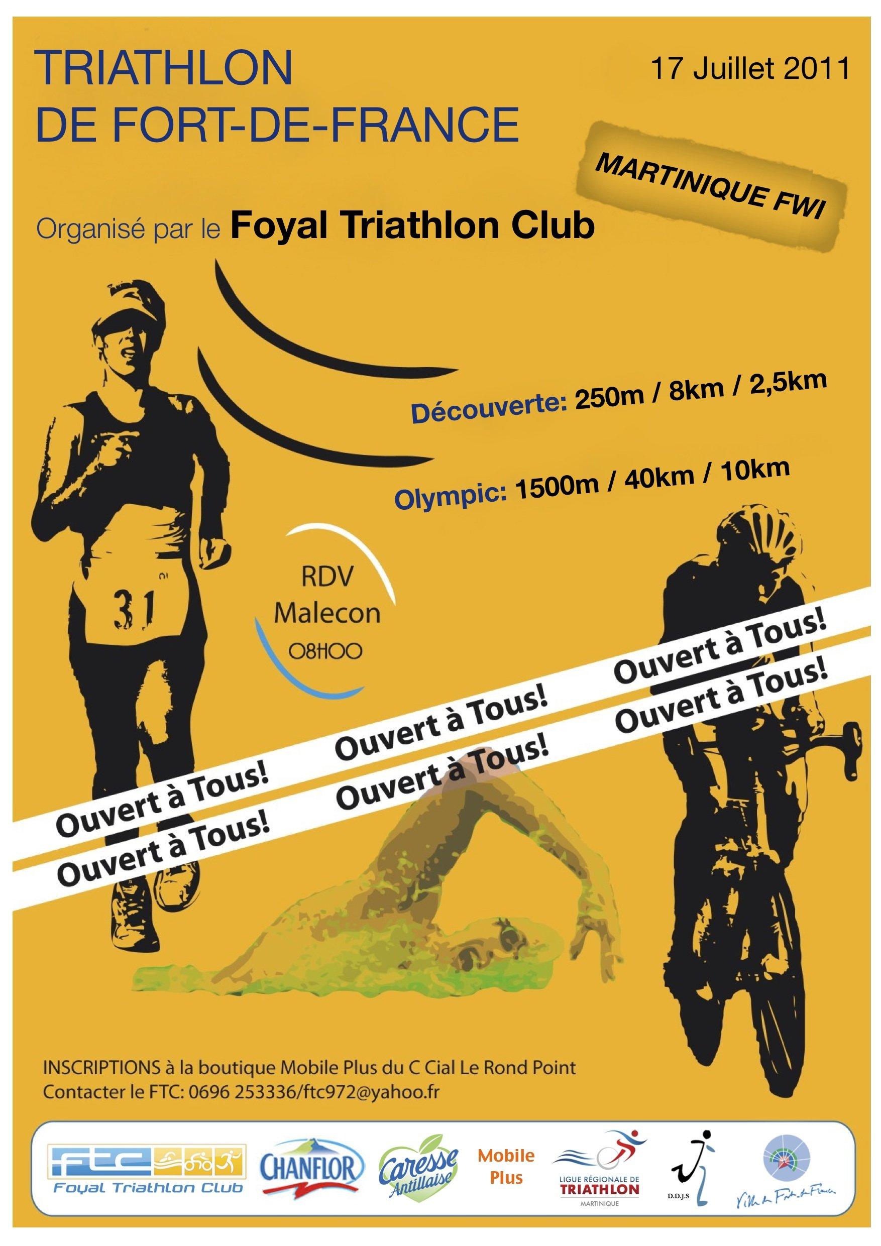 Affiche Triathlon FDF 2011